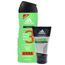 adidas 阿迪达斯 男士功能型香波沐浴露 400ml+男士碳爽洁面膏 50g *5套 69.5元包