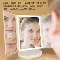 局部放大2-3倍+触控补光灯!致暖 Warmest 化妆镜 双重优惠后115元包邮