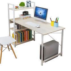 ¥119 匠林家私书桌电脑桌书架组合桌子(枫樱木115cm)-国美