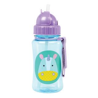 SKIP HOP动物园水樽 婴儿学饮杯 儿童水杯350ml(附吸管)-独角兽 6个月以上 美