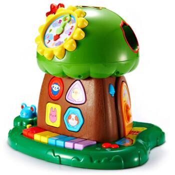 AUBY 澳贝 463425DS 婴儿电子琴智慧树+奥迪双钻可动玩偶 93元包邮