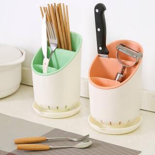 9.9元 双层沥水厨房筷子筒 可拆卸