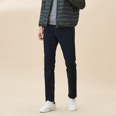 ¥99.6 网易严选 男式火山岩冬季保暖牛仔裤-