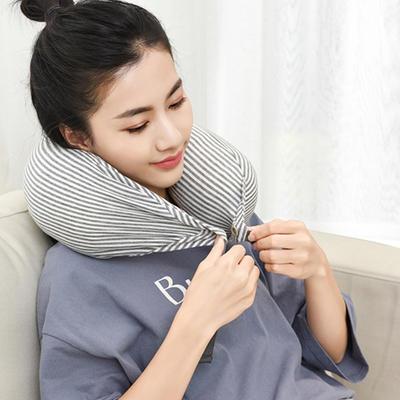 网易严选乳胶颗粒颈枕U形枕 65元