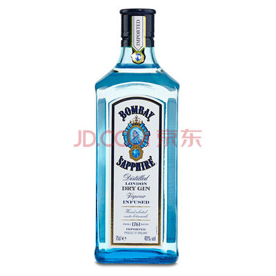 BOMBAY 孟买 蓝宝石金酒 40度 750ml *4件 216元包邮(下单立减)