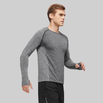 网易严选 男式无缝运动长袖T恤衫 双十二活动价70.9