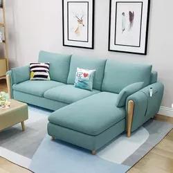 A家家具 布艺沙发组合 三人位+贵妃位 ¥2408