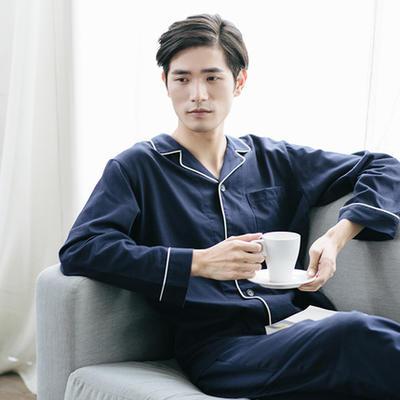 网易严选 男式棉绒撞色家居服套装 2色 ¥99