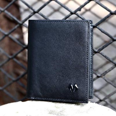 BABAMA 简约牛皮短款钱包 简约实用的短款钱包