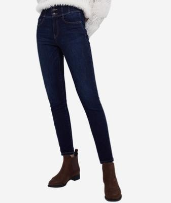 ¥169 网易严选 女式天鹅绒保暖牛仔裤