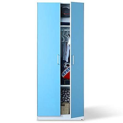 多喜爱AOK 平拉门衣柜儿童衣柜 儿童储物衣橱 (双门B款,蓝色) 1799元