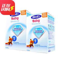 临期品: Hero Baby 婴幼儿奶粉 1段 800g 2盒 105元包邮(合52.5元/盒)