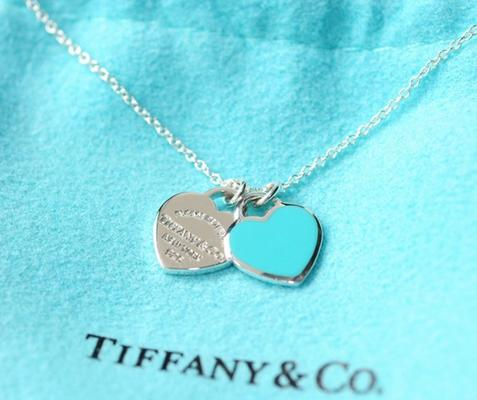 ¥980 TIFFANY & Co Return to Tiffany系列 27125107 纯银双心型项链