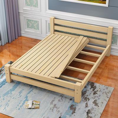¥420 琪川家居 实木床 松木床 成人床 双人床 单人床 1.2米 1.35米 1.5米 简约