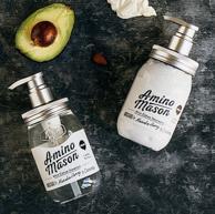 向往的生活同款!Amino mason 升级氨基酸头皮护理滋养套装 洗发水450ml+护发