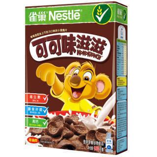雀巢(Nestle) 可可味滋滋 麦片 非油炸 巧克力 即食谷物早餐150g *12件 105.6元(