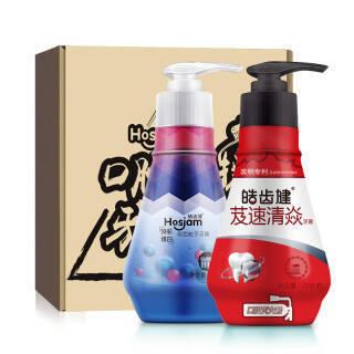 皓齿健 Hosjam 清焱健白牙膏套装 440克(2瓶装) 43.9元