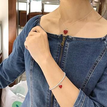 Tiffany蒂芙尼 红釉心形手链 GRP10189 7.7折 直邮中国 ¥1071