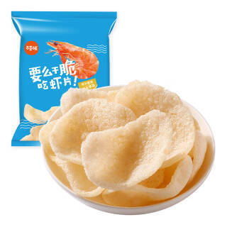 百草味 原味虾片45g *19件 87.1元(合4.58元/件)