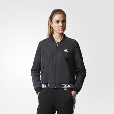 adidas 阿迪达斯 运动型格 女子 夹克 黑 CE2535 239元包邮