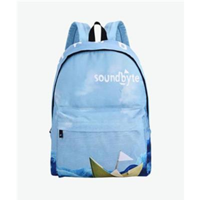 soundbyte 蓝色卡通印花双肩包 牢固与美学的结合