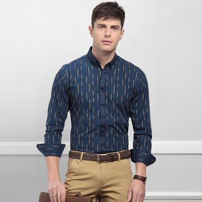 Hodo 红豆 男士修身提花长袖衬衫 *2件 *2件 99元
