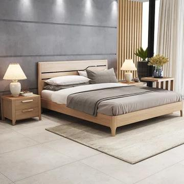 A家家具 实木框架床 1.8*2米 1659元包邮