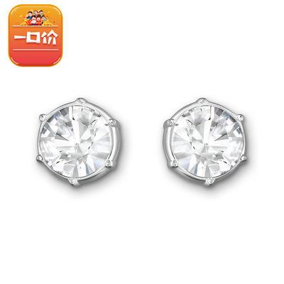 历史低价: SWAROVSKI 施华洛世奇 1179717 闪亮镀白金色耳环 209元包税包邮
