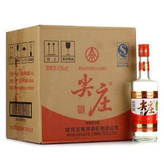 五粮液 股份公司 尖庄 玻瓶整箱装43度450ml*12瓶 *4件 416元(合104元/件)