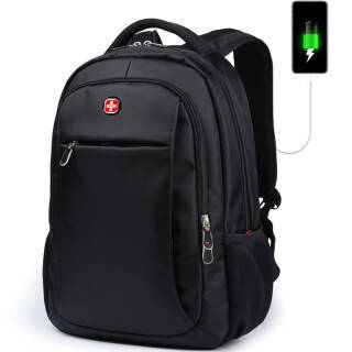 SWISSGEAR 背包双肩包商务笔记本电脑包15.6英寸防泼水大容量旅行包男女士学