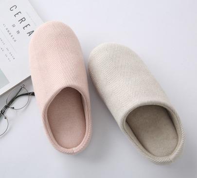 ¥19.8 MUJI制造商!网易严选 简风斜纹男/女家居拖鞋
