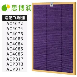 思博润 空气净化器过滤网滤芯 适用飞利浦 AC4072 AC4083 等 *2件 108.8元(合54.4