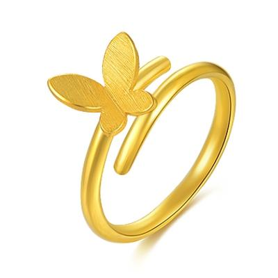 China Gold 中国黄金 蝴蝶飞飞 双层足金戒指 3.76g 1187元包邮
