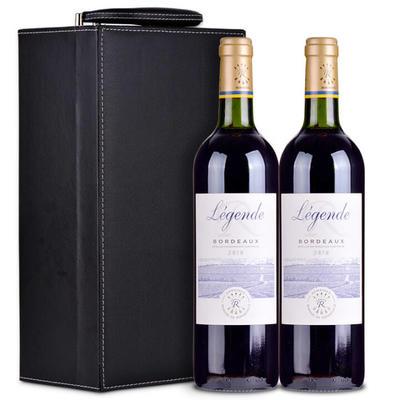 拉菲传奇波尔多干红葡萄酒双支礼盒装带酒具 185元包邮