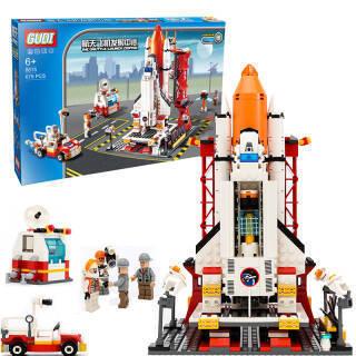 新乐新 古迪积木 航天系列 GD8815航天飞机发射中心 儿童积木玩具 男孩拼装