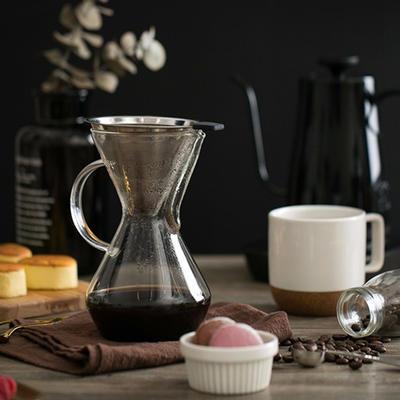 简洁实用!网易严选三段式结构咖啡分享壶 限时优惠价103元包邮