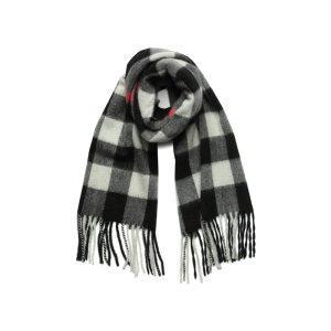 Luigi Baldo 意大利 时尚格纹英伦风 纯羊绒围巾 155.4元