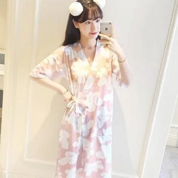 国美 霓美舒 日系和服女短袖性感睡裙35.9元包邮(还可2件9折)