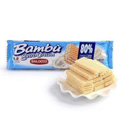 ¥9.9 【国美自营】意大利进口 百乐可BALOCCO奶油威化饼干100g