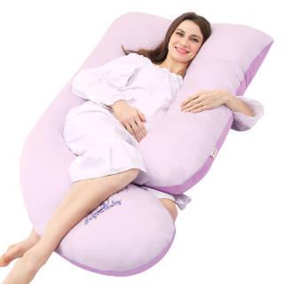 佳韵宝(Joyourbaby)U型多功能孕妇枕护腰枕头侧睡侧卧舒适睡眠梦幻双紫 *2