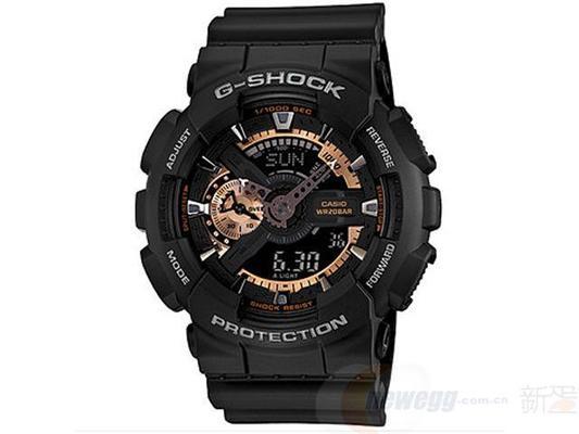 历史低价: CASIO 卡西欧 G-shock GA-1 10RG-1A 男款电子表 499元包邮