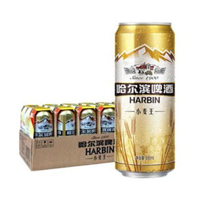 哈尔滨 小麦王啤酒 500ml*18听 59元(满86元包邮)