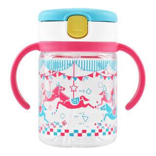 利其尔(Richell) 透透杯儿童吸管水杯防漏宝宝学饮杯婴儿喝水杯 2018春季新