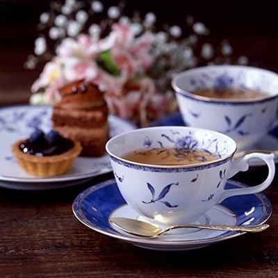 NARUMI 鸣海 茶杯碟套装 含甜品盘 2组 200cc ¥232