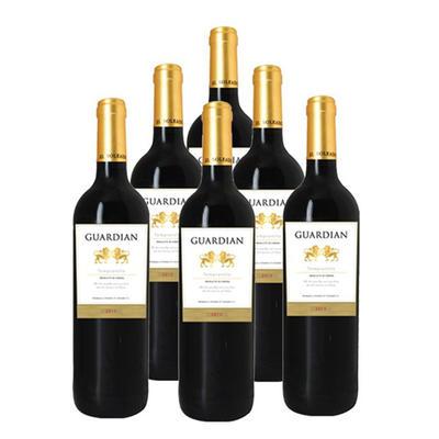 香甜浓郁!GUARDIAN皇家金狮红葡萄酒750毫升6瓶装 活动好价116元包邮含税