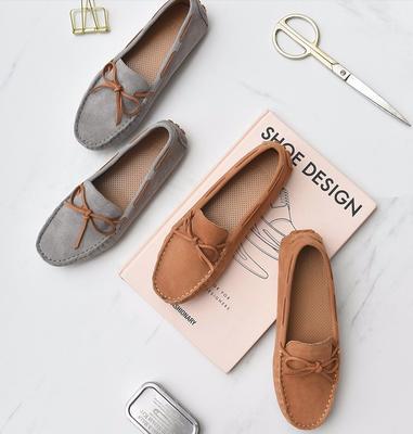 ¥159 通勤舒适! 女士休闲一脚蹬羊皮麂皮豆豆鞋 159包邮