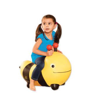 比乐(B.) B.Toys跳跳河马跳跳小蜜蜂儿童户外加厚充气幼儿园动物玩具 黄色