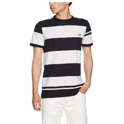 FRED PERRY 佛莱德·派瑞 男士纯棉条纹T恤 245元 休闲时尚