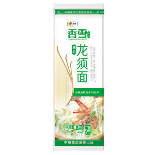 香雪 麦芯龙须面 挂面 中粮出品1kg *2件 15.84元(合7.92元/件)