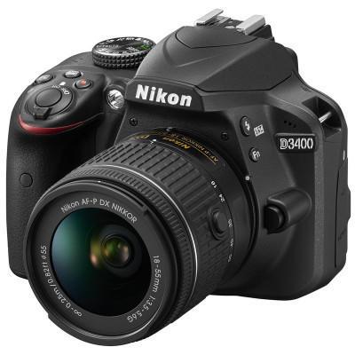 ¥3599 尼康数码单反相机 D3400(18-55mm+55-200mm)双镜头套装